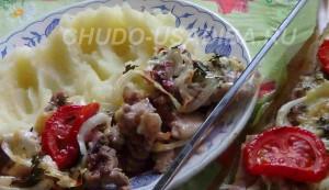 мясо по французски в духовке - фото