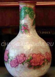 декупаж вазы - фото
